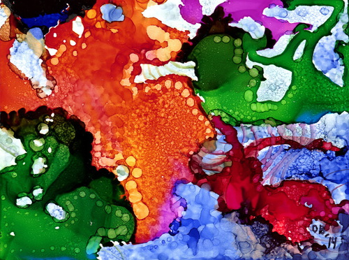 Alcohol Ink Painting 2