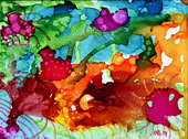 Alcohol Ink Painting 17 (thumbnail)