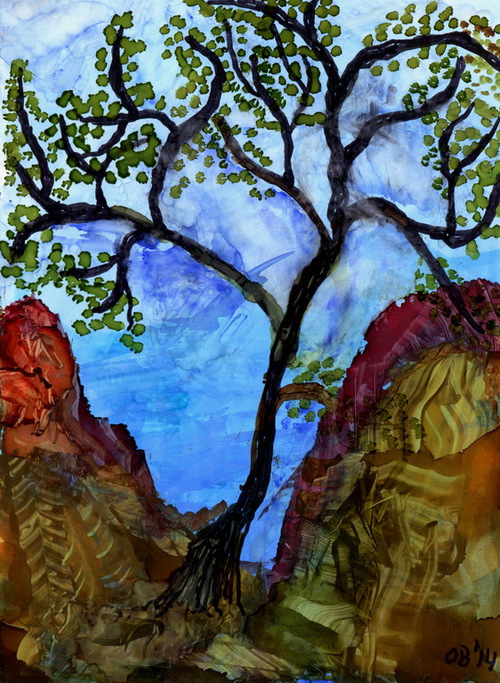 Alcohol Ink Painting 20